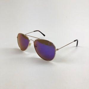 Forever 21 Blue Mirror Aviator Sunglasses